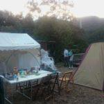 いろんなテントで眠りました