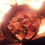 ~焚き火で夜食♪~
