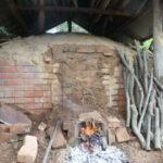 炭窯に火をいれます