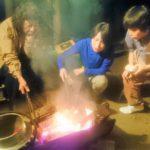 焚き火で調理♪