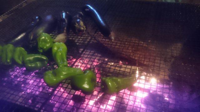 ~焚き火で焼き野菜~