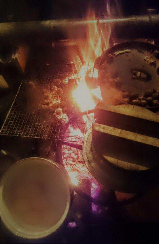 2017.11.11②焚き火の上いっぱいのお料理