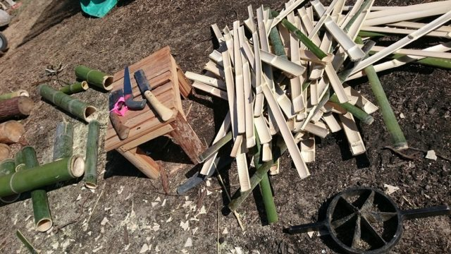 竹炭の材料