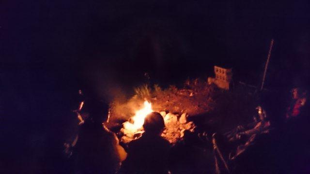 焚き火と星と レコードNight☆彡