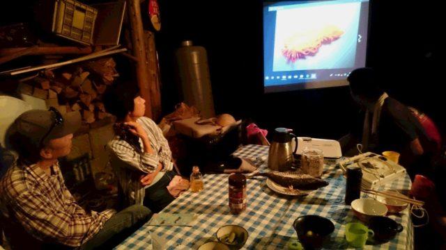 食後は、ナイトシアターでウミウシNight☆彡 小さな小さな海の生き物、ウミウシの生態について、写真と動画で解りやすくご紹介くださいました。ウミウシを語る講師の姿も、まるで水を得た魚の様でした🌊