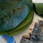 柿の葉寿司作り