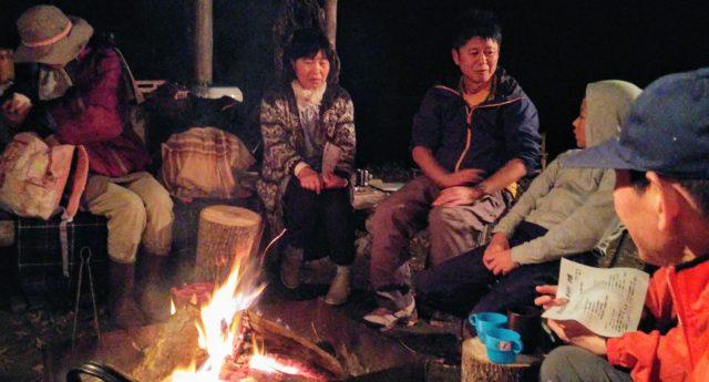 2018.10.13⑤焚き火と國岡さんを囲んで