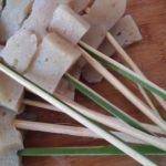 手作りの竹串で田楽に♡