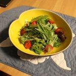 水菜とレタスとベビーリーフのサラダ
