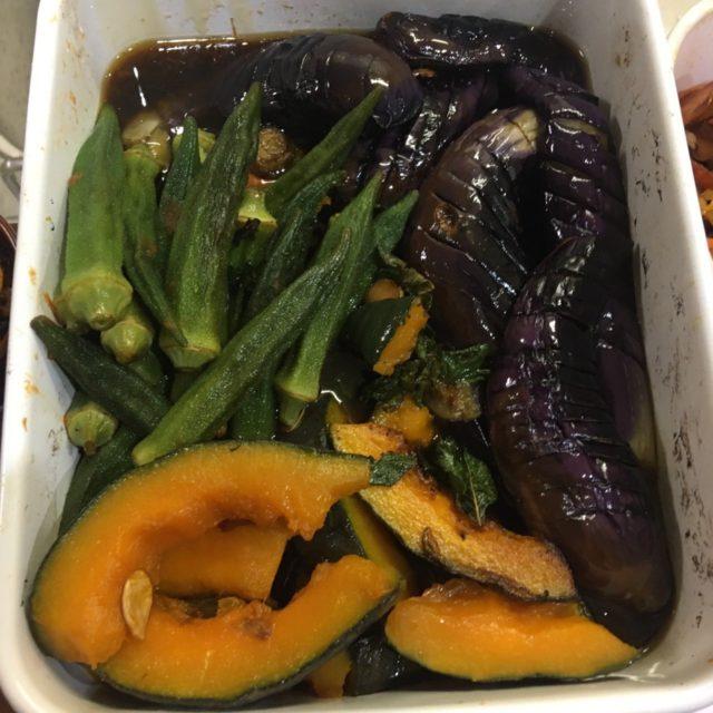 夏野菜の煮びたし