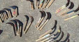 里山ボランティアの日あずまやの屋根葺き替え_手道具の棚卸し(在庫確認)2020113_201106_13